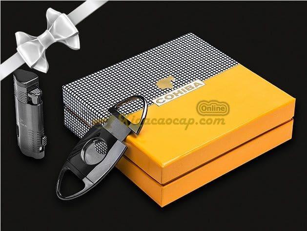 Bộ phụ kiện Cohiba Black với hộp quà tặng