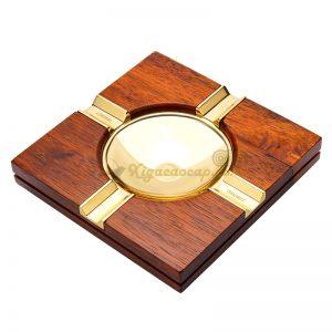 Gạt tàn gỗ vàng 4 điếu
