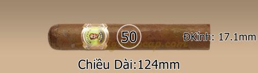 Kích thước xì gà Bolivar Royal Coronas