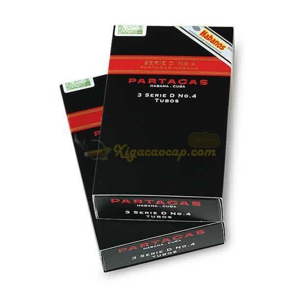 Partagas D4 133 - Partagas Serie D No.4 Tubos - 3 điếu