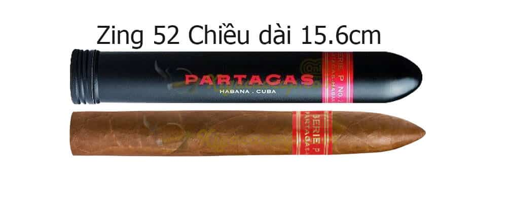 Partagas Serie P No 2 Tubo 12 - Partagas Serie P No.2 Tubos - 3 điếu
