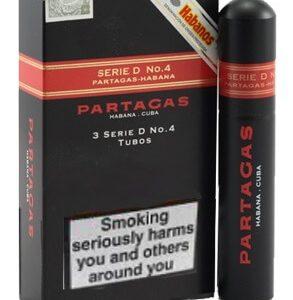 Partagas serieD no4 tubed 293x300 - Partagas Serie D No.4 Tubos - 3 điếu