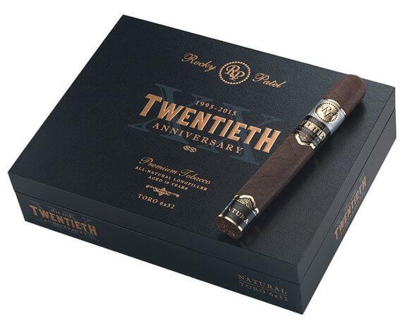 rocky patel 20th anniversary cigars box stick - Rocky Patel 20th Anniversary Robusto Grande - 20 điếu