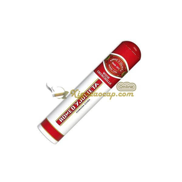 romeo wide churchill 2 - Romeo Y Julieta Wide Churchills Tubos  - 3 điếu