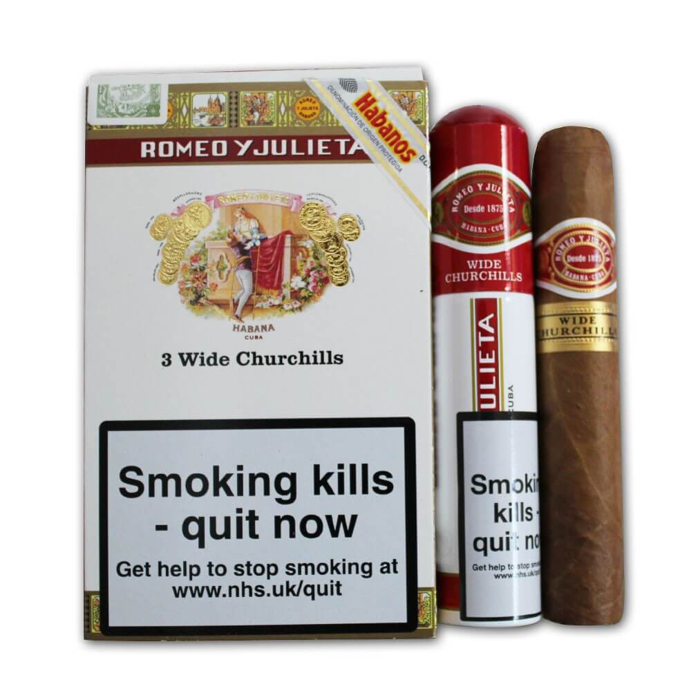 wide chu - Romeo Y Julieta Wide Churchills Tubos  - 3 điếu