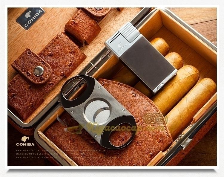 Hop da xi ga 4 dieu 9 - Hộp da đựng xì gà 4 điếu Cohiba Box