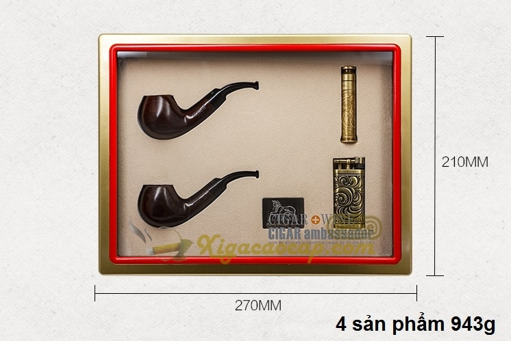 bo phukien hut tau cao cap lubinski luxury pipes 3 - Bộ phụ kiện hút tẩu cao cấp kèm 2 tẩu thuốc Lubinski Luxury Pipes