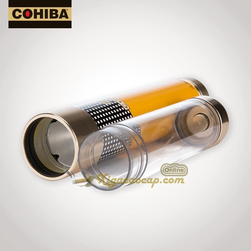 ong dung xiga 1dieu cohiba davidoff 4 - Ống đựng xì gà 1 điếu Cohiba Davidoff