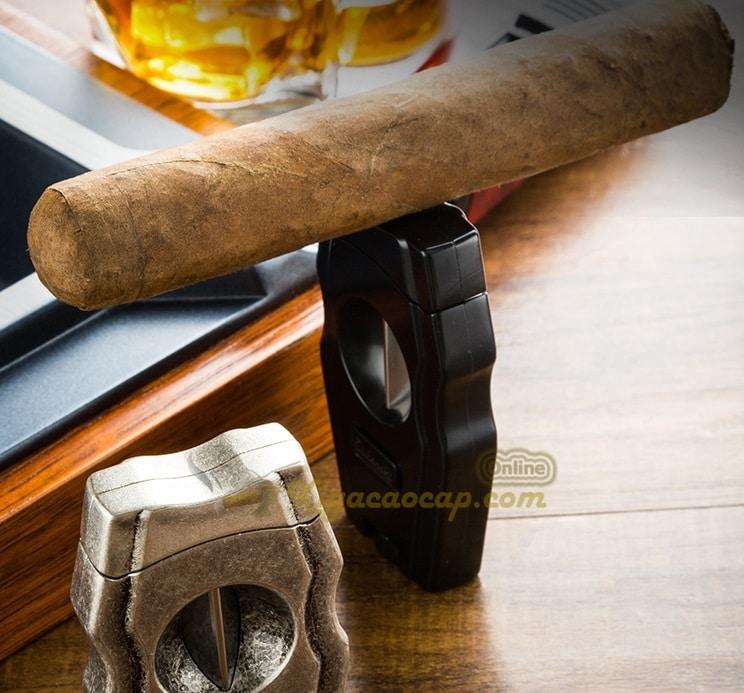 dao cat cigar lubinski v cut 4 - Dao Cắt Cigar Lubinski V-Cut