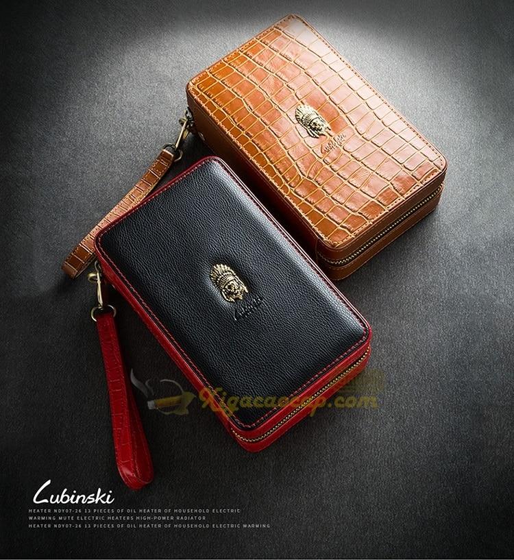 hop xi ga lubinski cigar box 01 - Hộp xì gà Cầm Tay 4 điếu Lubinski Cigar Box